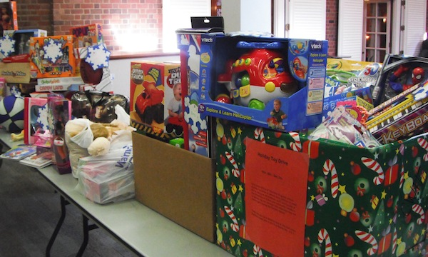 Holiday Toy Drive contributions