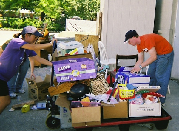 OVP students load up donations